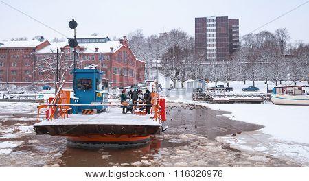 Passengers Float On City Boat Fori, Light Traffic Ferry