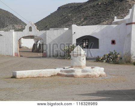 White Mexican Style Buildings