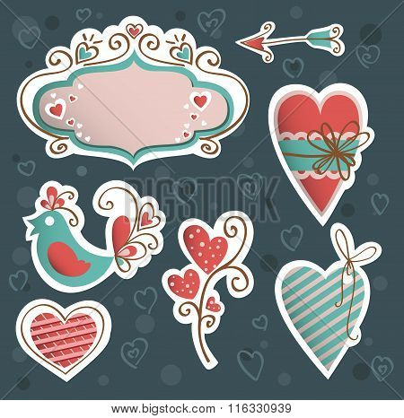 Valentine's Icon Vector Set