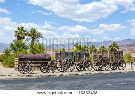 Old Waggons In The Death Valley