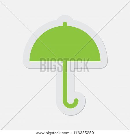 Simple Green Icon - Umbrella