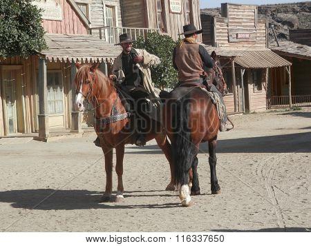 Horse Riders On Film Set