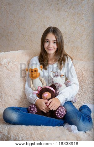 Girl And Toys