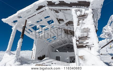 Old Snowy Building