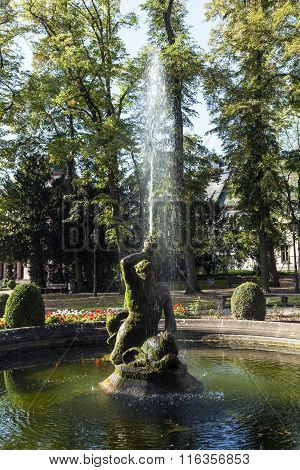 Famous Neptune Fountain Inside The Bolongaro Park