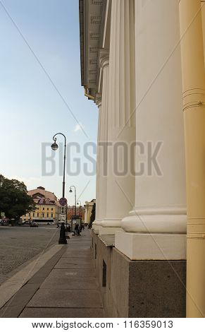 Columns Of The Building Of The Russian Museum Of Ethnography.