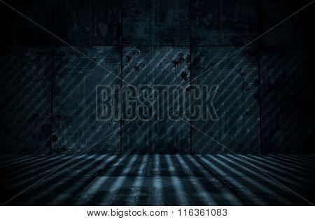 Spooky Extra Dark Cyanotype Room