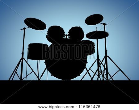 Silhouette Drum Set