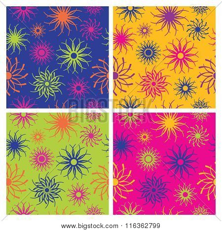 Sparkle Flower Pattern in Brights