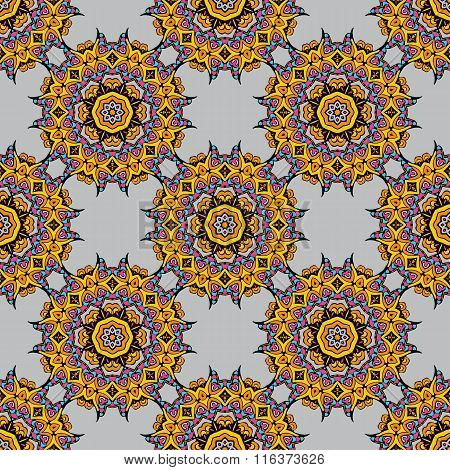 Seamless Background With A  Arabic Oriental Turkish Motifs