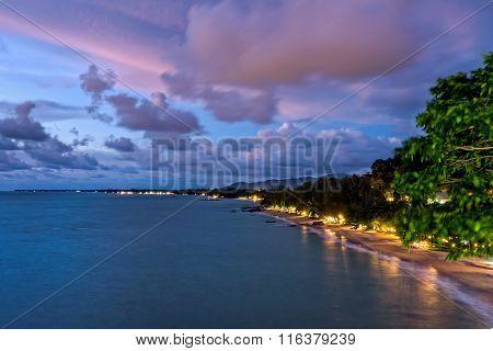 Sunset At Khao Lak Beach, Thailand
