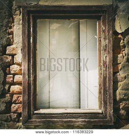 Vintage Glass Window