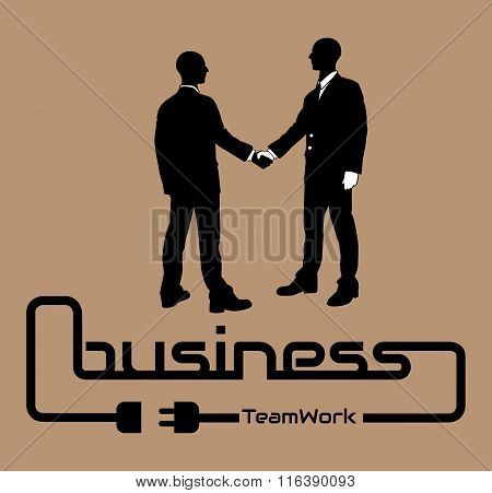 Business Teamwork Background Flyer Poster Desig Brown