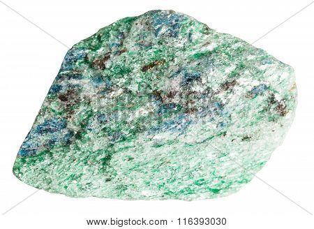Fuchsite (chrome Mica) Mineral Stone Isolated