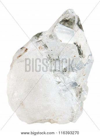 Clear Rock Crystal (quartz) Mineral Stone Isolated