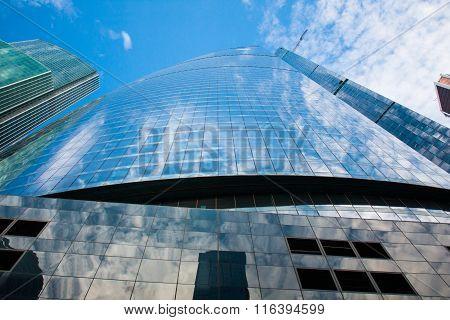 glass skyscraper and sky