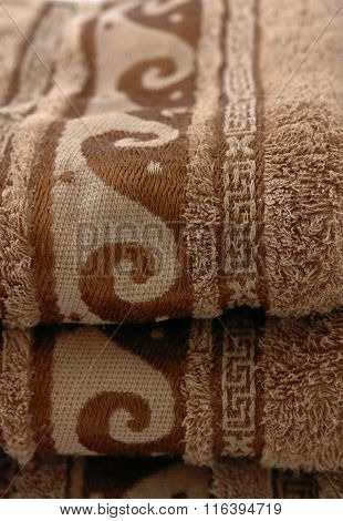 Stack Of Brown Towels