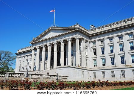 US Treasury Department building in Washington DC