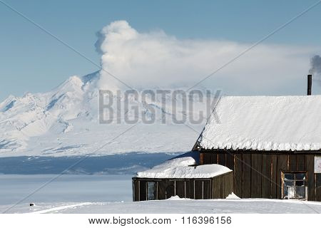 House Volcanologists On Background Eruption Volcano