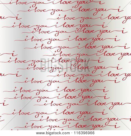 I love you words background. Seamless pattern.