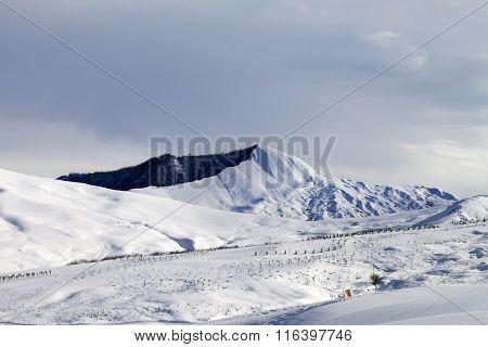 Ski Resort In Gray Day