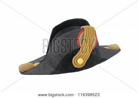 Italian Cocked Hat Of Italian Navy Doctor (officer)