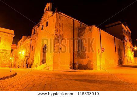Nostra Signora Del Carmelo Church In Alghero