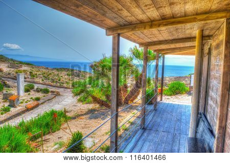 Wooden Canopy By The Sea