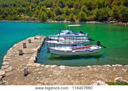 Telascica Bay On Dugi Otok Island Boats