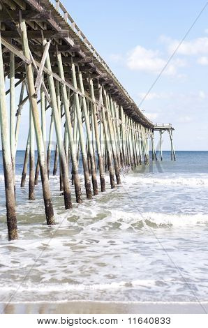 Pier At Carolina Beach, North Carolina