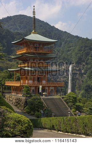 Seigantoji Pagoda And Nachi No Taki Waterfall
