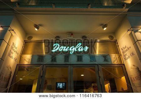 Douglas Beauty And Fragrance Store At Night.