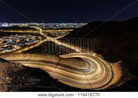 Winding Road In Muscat, Oman