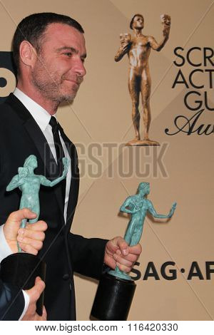 LOS ANGELES - JAN 30:  Liev Schreiber at the 22nd Screen Actors Guild Awards at the Shrine Auditorium on January 30, 2016 in Los Angeles, CA