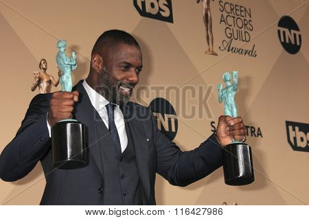 LOS ANGELES - JAN 30:  Idris Elba at the 22nd Screen Actors Guild Awards at the Shrine Auditorium on January 30, 2016 in Los Angeles, CA