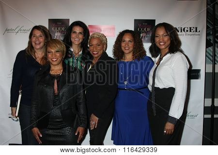 LOS ANGELES - JAN 29:  Lorraine Bracco, Sophia A. Nelson, Angie Harmon, Karen Horne, Garcelle Beauvais at An Evening with The Woman Code Event at the City Club on January 29, 2016 in Los Angeles, CA