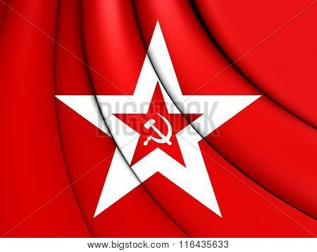 3D Naval Jack of the Soviet Union. poster