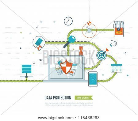 Data protection and safe work. Investment security.