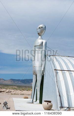 Alien In Nevada Desert