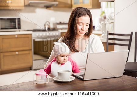 Working At Home With A Baby