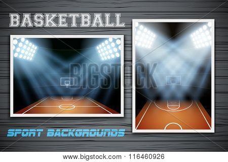 Set Backgrounds of Basketball stadium
