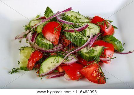 Salad - Tomato, Onion And Cucumber