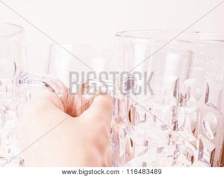 Retro Looking Empty Beer Glass