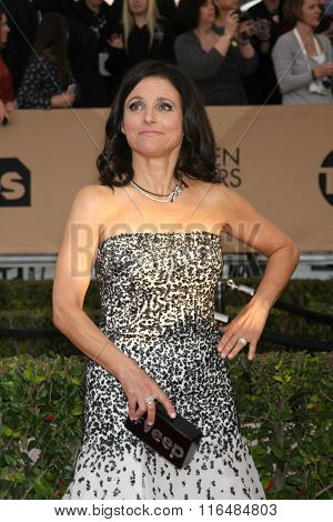 LOS ANGELES - JAN 30:  Julia Louis-Dreyfus at the 22nd Screen Actors Guild Awards at the Shrine Auditorium on January 30, 2016 in Los Angeles, CA