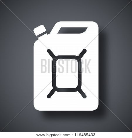 Vector Jerrycan Of Fuel Icon