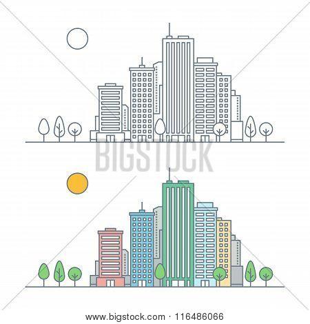 Linear City Landscape Concept
