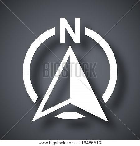 North Direction Compass Icon, Vector