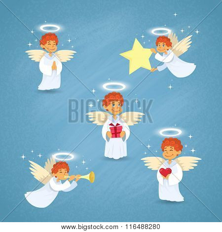 Valentine's Angel Cupid Group Saint Valentine Holiday
