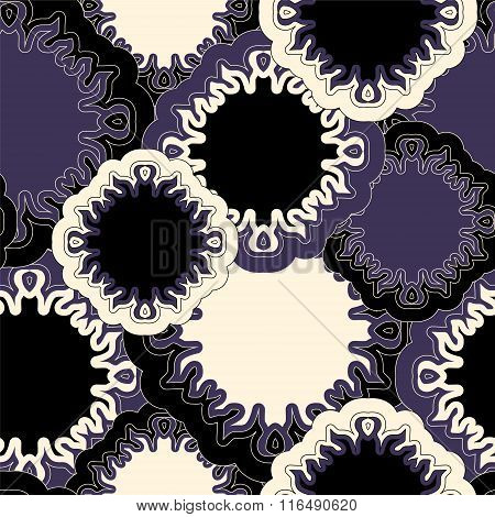Stock Vector Seamless Doodle Floral Pattern. Orient. Boho
