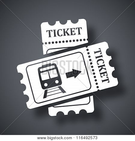 Train Tickets Icon, Stock Vector